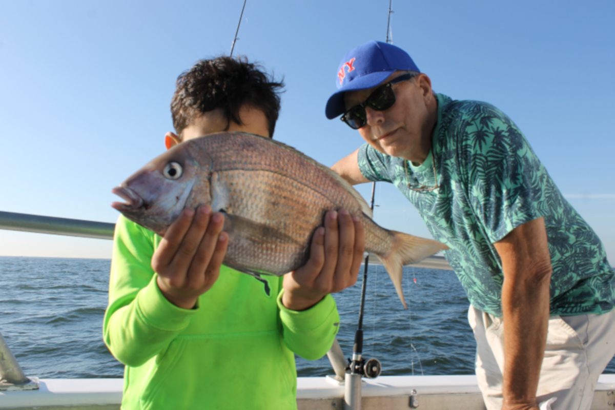 Elias - showing off his fish!