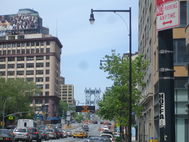 Manhattan Bridge Entrance on Flatbush Avenue
