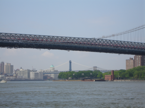 Three Brooklyn Bridges from Grand Ferry Park