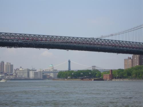 Three Brooklyn Bridges from Grand Ferry Park